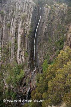 Ralphs Falls was a very tall but thin waterfall dropping over a rugged cliff facing a wide open expanse of farmlands belonging to the community of Ringarooma. We were able to take in the falls. Waterfalls, Bucket, Victoria, Australia, Country, World, Places, Outdoor, Beauty