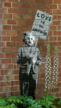 Einstein street art by graffiti artist Banksy on a building in The Forest Lodge in Carmel.