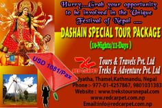 Don't miss the chance to get Involved in The 15 Days Long Festival (DASHAIN) Of Nepalese...