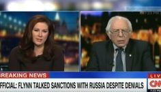 Sen. Bernie Sanders experienced a technical issue during a Friday interview on CNN after he made a joke that the news network was fake news. Appearing on Outfront, the senator was asked to discuss reports that President Trump's national security adviser, Michael Flynn, had discussed sanctions on Russia with the country's ambassador the day before they were implemented by the Obama administration. This is a very troubling development, the senator said, adding that it speaks to the broa...