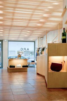 great ceiling effect: brussels: a.p.c. store [nicchia]
