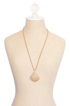60's__Trifari__Open Pendant Necklace