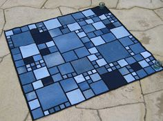 Love this! This is the post that led me to the Mondrian denim quilt post where you can get the pattern.