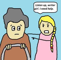 Dumpy Grace Writes a Novel: Where do you get your ideas?