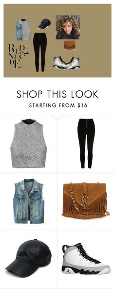 """""""Untitled #59"""" by qveenkiki on Polyvore featuring Topshop, River Island, Yves Saint Laurent, Vianel and Retrò"""