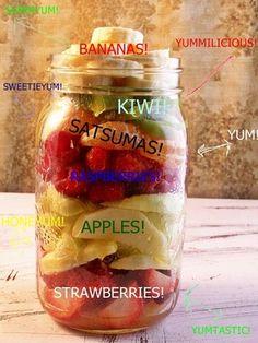 Fruit Salad in a jar!
