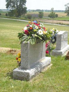 SALE Handmade Custom Headstone Grave Memorial Cemetery Flowers Saddle on Etsy, $65.00