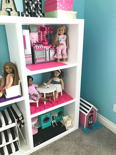Create Adorable DIY American Girl Doll Rooms In A Large Doll House For  18inch Dolls.