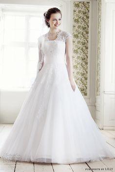 cap sleeves A-line wedding dress #weddings #bridal #weddingdress