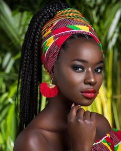 30 Gorgeous Bandana Hairstyles for Cool Girls!- 30 Gorgeous Bandana Hairstyles for Cool Girls!Looking to add another tool to y…, 30 Gorgeous Bandana Hairstyles for Cool Girls!Looking to add another tool to y…, - Black Is Beautiful, Beautiful Women, African Beauty, African Women, African Girl, Black Women Art, Black Girls, African Head Wraps, Dark Skin Beauty