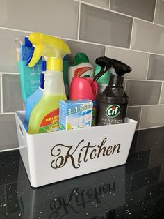 Personalized kitchen storage Cleaning Cupboard Organisation, Cleaning Hacks, Cleaning Supplies, Kitchen Storage, Spray Bottle, Shop, Etsy, Cleaning, Kitchen Organization