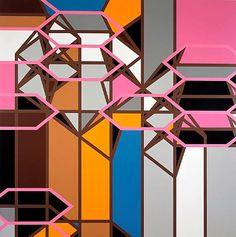 Sarah Morris   http://sarah-morris.info/?/Paintings/LosAngeles/