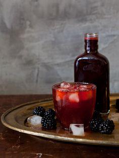 Blackberry Rum Shrub