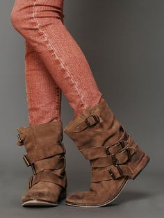 slouchy boots. Free people.