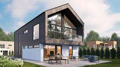 Moderne hustype | Tønsberg | Et funkishus hus fra Blink Hus Home Fashion, Shed, Exterior, Outdoor Structures, House Design, Mansions, House Styles, Outdoor Decor, Home Decor