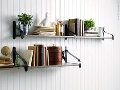 love the shelves from Ikea