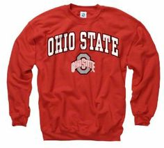 Ohio State Buckeyes Red Perennial Ii Crewneck Sweatshirt by New Agenda. $29.99. Officially licensed. 50/50 Cotton/Polyester garment is both comfortable and warm. Durable screen print graphics. Rib knit cuffs and collar. Stand up and cheer for your Ohio State Buckeyes in this Buckeyes sweatshirt by New Agenda. Featuring screen print graphics with your team's arched word mark and logo, this classic piece of Ohio State Buckeyes gear is the perfect way to show that you'...