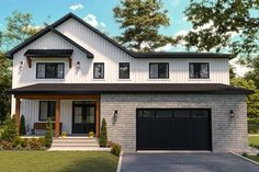 Modern Farmhouse Style, Modern Country, Montana, Drummond House Plans, 4 Bedroom House Plans, Construction, How To Plan, Shed, Mudroom