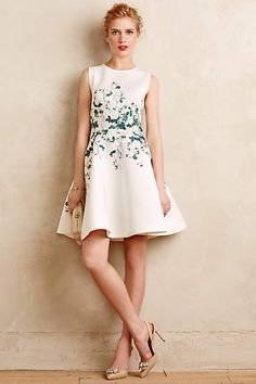 Sweetheart Roses Dress - anthropologie.com. Pretty floral fit and flare. This is how I do girly. ;)