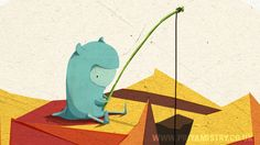 Lovely! : Wilber and Jim:   #1. Fishing for Friends by Priya Mistry, via Behance