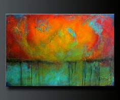Oxidized Metal 4 36x 24 Acrylic Abstract di CharlensAbstracts