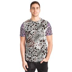 Best T Shirt Designs, Leopard Fashion, Pink Design, White Art, Cool T Shirts, Short Sleeves, Men Casual, The Originals, Tees