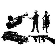 roaring 20s decorating | roaring 20s decorations party supplies - gangster silhouettes