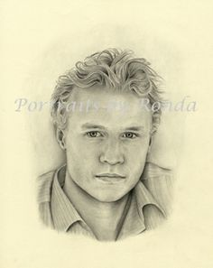 Heath Ledger by rondawest {from USA} ~ pencil portrait