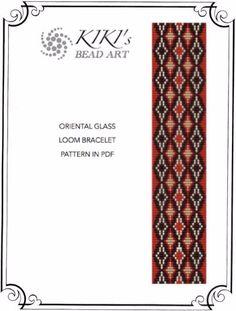 Bead loom pattern Stained glass oriental by KikisBeadArts on Etsy