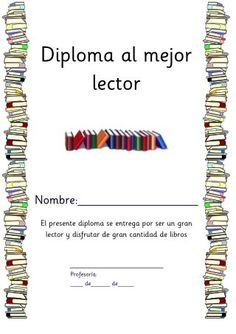 Title Slide of Diploma al mejor lector Primary Education, Kids Education, Spanish Teaching Resources, Teacher Notes, Book Quotes, Baby Knitting, Curriculum, Middle School, Classroom