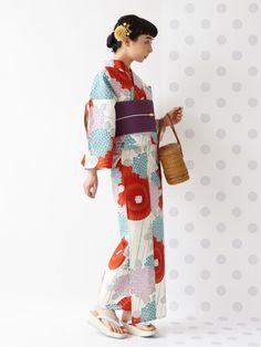 浴衣「傘と紫陽花」 商品画像