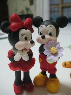 cake toppers Mickey & Minnie Mouse