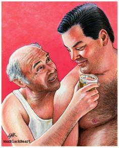 8x10 print Mr. Lahey & Randy  Cheesburger- Liquor Party Trailer Park Boys