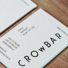 "475 Likes, 2 Comments - Inhouse Design (@inhousedesigns_) on Instagram: ""Crowbar snack&cafe identity & branding by Hany Zackova 👍👍 #cafebranding #design #designer…"""