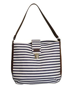 Another great find on #zulily! Denim Stripe Shoulder Bag #zulilyfinds
