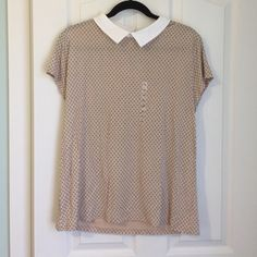 Ann Taylor shirt! Ann Taylor shirt! Cute Peter Pan collar with a dusky pink background stitched with tiny flowers. Cool, stylish and comfy! Brand new with tags! Ann Taylor Tops Blouses