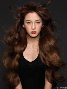 Hair dyed brown