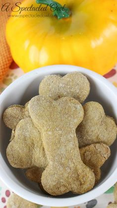Banana Pumpkin Dog Biscuits - A perfect, tasty, healthy treat for your dog!