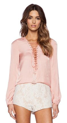 THE JETSET DIARIES blush pink shirt found on Nudevotion