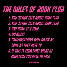 Book Club. The rules of Book Club.