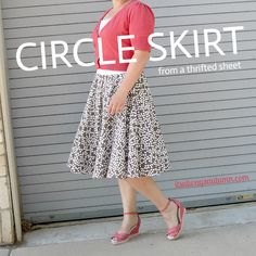 so cool - this entire outfit is thrifted, including the circle skirt made from a thrifted sheet! circle skirt tips included.