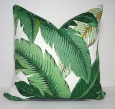AUGUST SALE Outdoor/Indoor Palm Tree Pillow Cover Tommy Bahama Swaying  Palms Pillow Cover Deck Porch 18x18