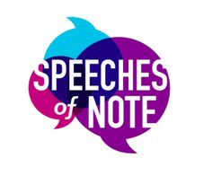 Ladies and gentlemen!     For the past few years I've been working on a new book--a collection of speeches titled, unsurprisingly, Spe...
