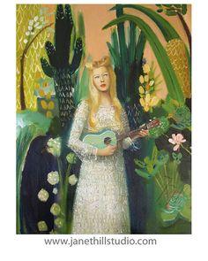 Ukulele Lady. Reproduction d'art