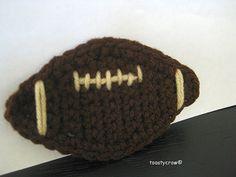 Football Embellishment - free crochet applique pattern