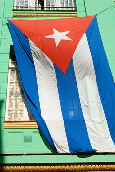 Cuban flag hanging p