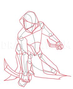 Welcome to the tutorial to draw an assassin. You can find a lot of tips about the the assassin drawing with a lot of interesting thing, information to Body Drawing Tutorial, Manga Drawing Tutorials, Drawing Templates, Body Reference Drawing, Drawing Reference Poses, Design Reference, Drawing Guide, Sword Drawing, Human Drawing