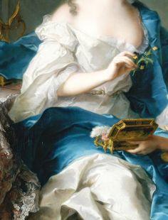 ♔ Madame Marsollier et sa fille (Détail) Jean Marc Nattier 1749