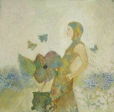 Girl with Butterflies...Judy thorley