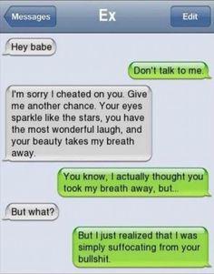 Texts To Girlfriend, Ex Boyfriend Humor, Teen Boyfriend, Boyfriend Texts, Love Quotes For Boyfriend, Boyfriend Text Messages, Funny Breakup Texts, Funny Texts Crush, Crush Memes